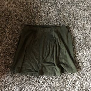 Suede Forever 21 Green Skirt